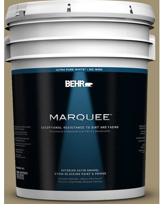 BEHR MARQUEE 5 gal. #380F-6 River Bank Satin Enamel Exterior Paint and Primer in One