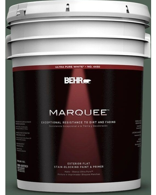 BEHR MARQUEE 5 gal. #460F-6 Medieval Forest Flat Exterior Paint and Primer in One