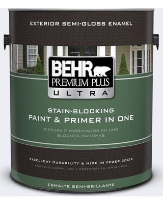 BEHR Premium Plus Ultra 1 gal. #ppl-13 Distant Windchime Semi-Gloss Enamel Exterior Paint and Primer in One