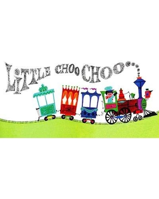 """Marmont Hill 'Little Choo Choo' Painting Print on Wrapped Canvas MH-KIDCUR-65-C- Size: 22.5"""" H x 45"""" W x 1.5"""" D"""