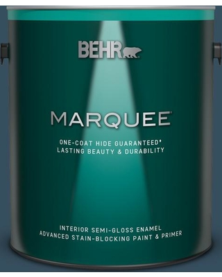 BEHR MARQUEE 1 gal. #540F-7 Velvet Evening Semi-Gloss Enamel Interior Paint and Primer in One
