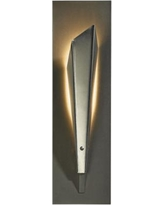 "Hubbardton Forge Quill 15 1/2"" High Platinum LED Wall Sconce"
