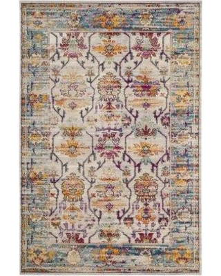 Bungalow Rose Aponte Cream/Teal Area Rug BGRS4048 Rug Size: Rectangle 9' x 12'