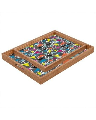 "East Urban Home Triangle Maze Serving Tray FINF9015 Size: 1.25"" H x 12"" W x 12"" D"