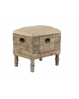 """Rustic 20"""" x 19"""" Cushioned Stool with Drawer - Multi"""