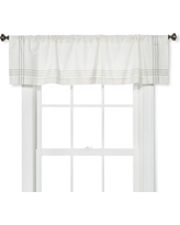 Window Valance - Cream/Gray Plaid Border - Threshold
