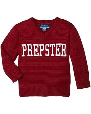 Andy & Evan Baby Boys' Prepster Intarsia Sweater-Infant, Red, 3/6