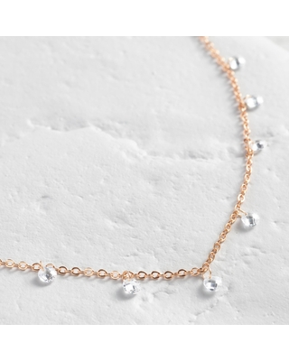Gold Delicate Bead Short Necklace by World Market