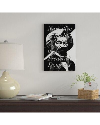 """East Urban Home 'Frederick Douglass By Benjy Brooke' By Creative Action Network Graphic Art Print on Wrapped Canvas FVNF4294 Size: 26"""" H x 18"""" W x 0.75"""" D"""