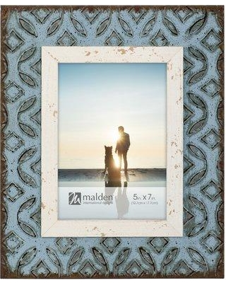 "Highland Dunes Lenny Distress Metal Tile Picture Frame BI159212 Picture Size: 5"" x 7"""