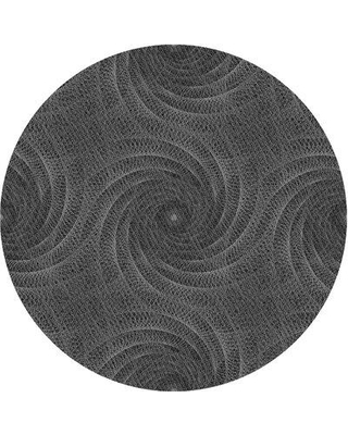 East Urban Home Wool Gray Area Rug W001186021 Rug Size: Round 4'