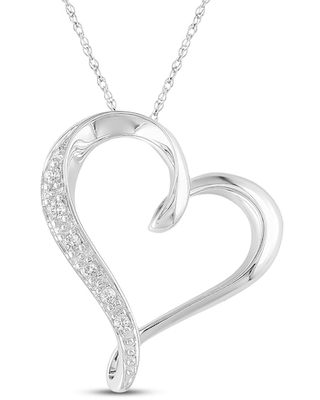 Jared The Galleria Of Jewelry Diamond Accent Necklace 10K White Gold