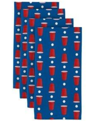 """Fabric Textile Products Inc. Beer Pong Cups 18"""" Napkins CF-M6L9-L7S3"""