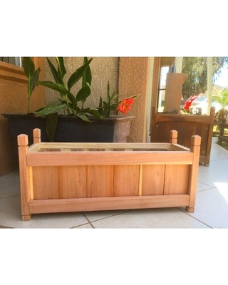 Amazing Sales On Adeliza Wood Elevated Planter Foundry Select Color Natural Size 17 H X 12 W X 36 D