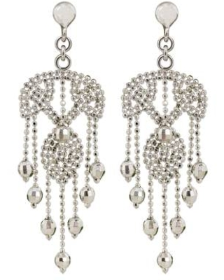 Ornate Silver Chandelier Earrings Handcrafted in Thailand