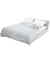 World Menagerie Langdon Lightweight Comforter WRMG2449 Color: Blue/ Ivory, Size: Queen
