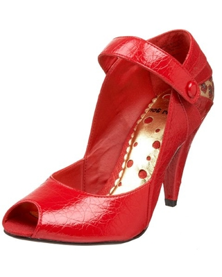Not Rated Women's Glitter Me Pump,Red,7 M US