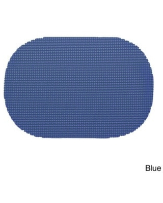 Oval Fishnet Placemat (Set of 12) (Blue)