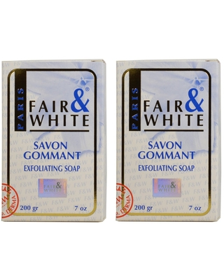 Fair & White Savon Gommant 7-ounce Exfoliating Soap (Pack of 2) (7-ounce (Pack of 2))