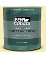 Discover Deals On Behr Ultra 1 Gal 400a 2 Summer Resort Extra Durable Satin Enamel Interior Paint Primer