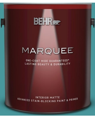 BEHR MARQUEE 1 gal. #510D-6 Aquatic Green Matte Interior Paint and Primer in One