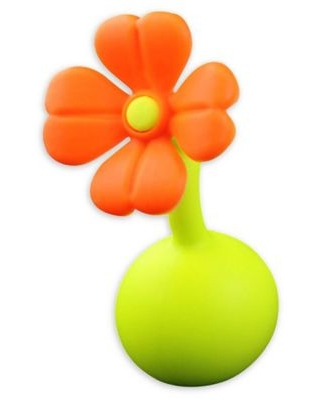 Haakaa® Silicone Breast Pump Flower Stopper in Orange