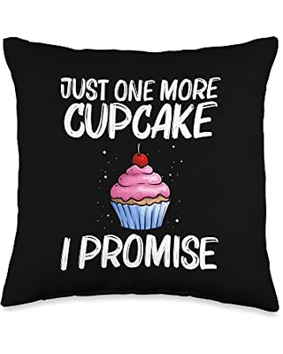 Best Cupcake Food Pastries Bakery Owner Clothes Cute Gift for Men Women Baker Baking Cupcake Lovers Throw Pillow, 16x16, Multicolor