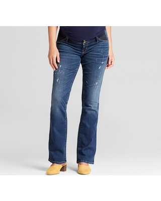f21bbdfbf0129 Maternity Inset Panel Bootcut Jeans - Isabel Maternity by Ingrid & Isabel  Medium Wash 4,