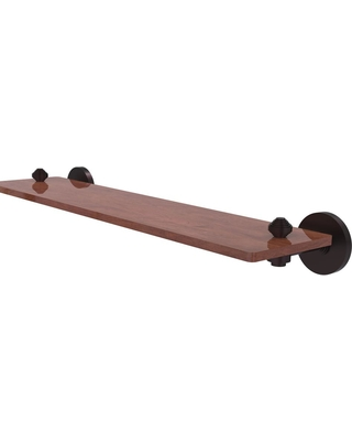 Allied Brass South Beach Collection 22 in. Solid IPE Ironwood Shelf in Antique Bronze