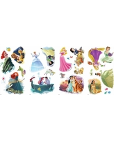 """RoomMates Disney Princesses """"Dream Big"""" Peel and Stick Wall Decal 4 Sheets, Multi-Colored"""