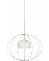 "Hubbardton Forge Cadence 20""W Seeded Glass Pendant Light"