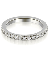 Petite 0.65 ct.tw 14K White Gold Round Cut Stackable Diamond Eternity Ring (4)