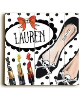 """The Holiday Aisle 'Halloween Shoes Personalized' Print on Wood BI010436 Size: 13"""" H x 13"""" W x 1.5"""" D"""