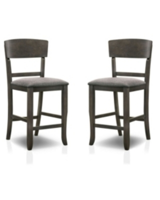 Furniture of America Summerland 2 Piece Counter Height Chair Set