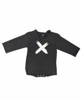 Earth Baby Outfitters Baby Boys and Girls Organic Cotton Cross Raw Edge Sweater - Black