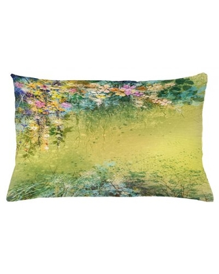 "Flower Indoor / Outdoor Lumbar Pillow Cover East Urban Home Size: 16"" x 26"""