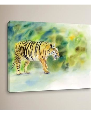 """Bloomsbury Market 'Tiger' Painting Print Wrapped on Canvas BLMT3404 Size: 8"""" H x 10"""" W x 2"""" D"""