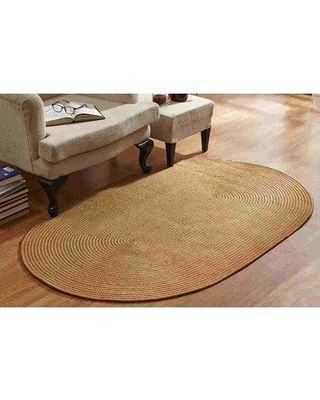 "August Grove McClure Braided Straw Area Rug W000882139 Rug Size: Rectangle 5'4"" x 8'4"""