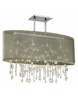 Everly Quinn Dottie Oval Shaded 4-Light Crystal Chandelier W000246270 Shade color: Taupe