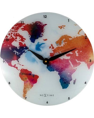 "Ebern Designs Austyn Colorful World 16.93"" Wall Clock ENDE1108"
