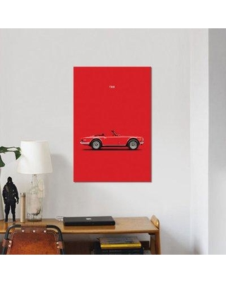 "East Urban Home 'Triumph TR6' Graphic Art Print on Canvas ESUR3543 Size: 26"" H x 40"" W x 0.75"" D"