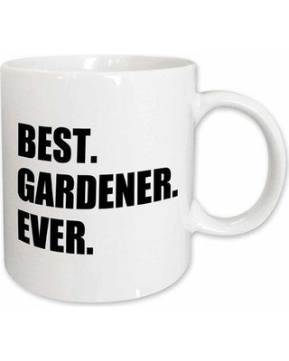Symple Stuff Altheimer Best Gardener Ever Fun Gift for Avid Gardeners and Gardening Fans Coffee Mug W000998297 Color: White