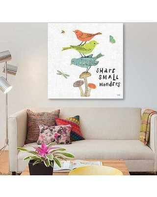 "East Urban Home 'Wild Wings III' By Sue Schlabach Graphic Art Print on Wrapped Canvas FUSD8242 Size: 12"" H x 12"" W x 0.75"" D"
