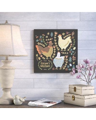 "August Grove 'French Hens' Acrylic Painting Print AGGR8919 Size: 18"" H x 18"" W Format: Canvas"