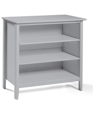 """Simplicity Collection AJSP0480 Wood 34""""H Under-Window 3-Shelf Bookcase Dove"""