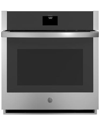 """JKS5000SNSS 27"""" Single Wall Oven with 4.3 cu. ft. Capacity True European Convection Touch Control and WiFi Connectivity in Stainless"""