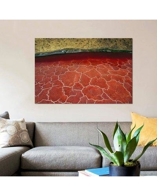 """East Urban Home 'Soda and Algae Formations Near Shore of Lake Natron Great Rift Valley Tanzania' Graphic Art Print on Canvas ERBH3252 Size: 12"""" H x 18"""" W x 0.75"""" D"""