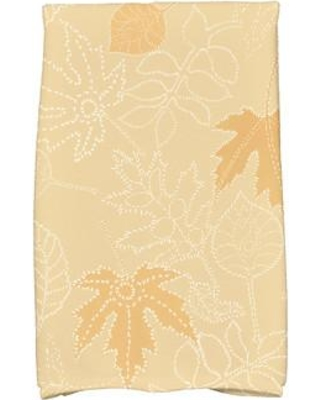 Alcott Hill Miller Dotted Leaves Floral Print Hand Towel ACOT1890 Color: Gold
