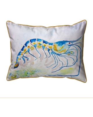 Blue Shrimp Extra Large Zippered Pillow 20x24 (Zipper Closure - Accent - Nautical & Coastal)