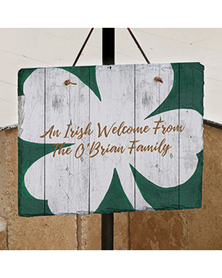 Luck Of The Irish Personalized Slate Sign